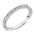 Lady's White Gold 14 Karat Wedding Band Size 6.5