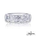 JB Star Emerald Cut Diamond Band
