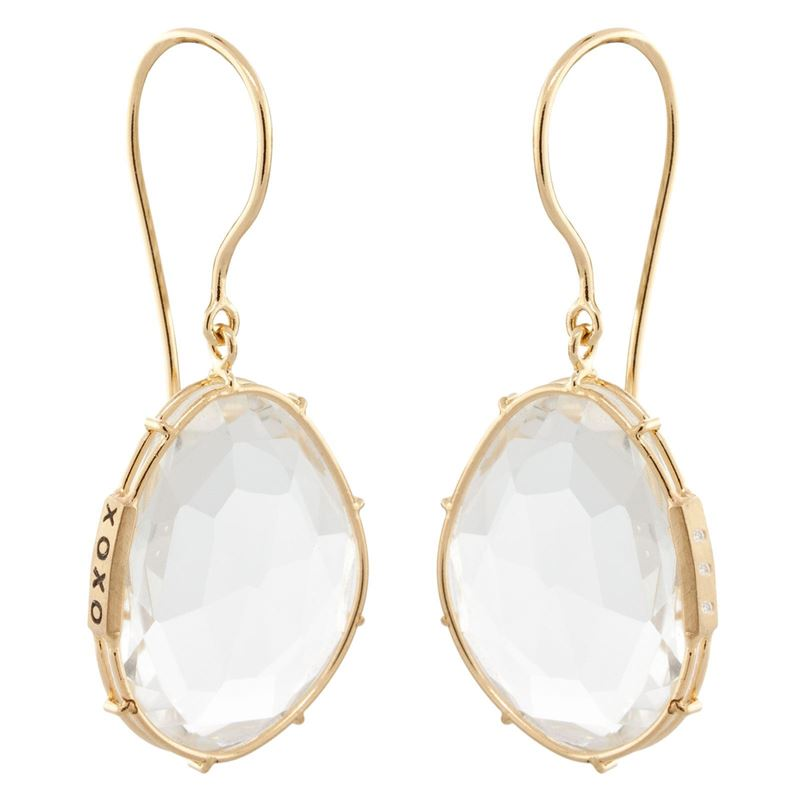 Heather B. Moore White Topaz Harriet Stone Earrings