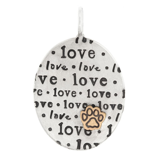 "Heather B. Moore Oval ""Love"" Charm"