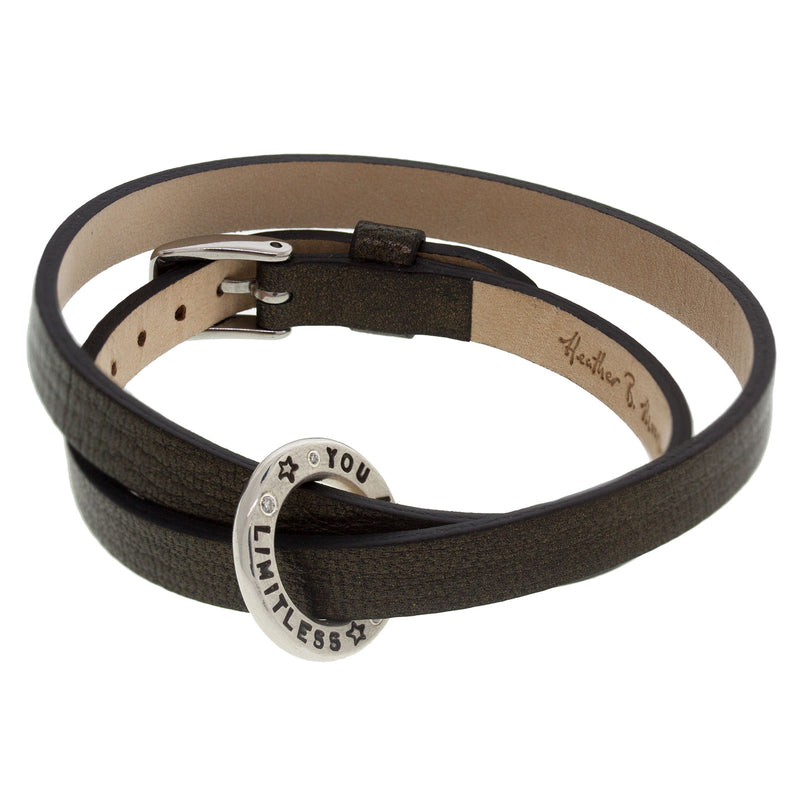 Heather B. Moore Thick Open Circle Leather Bracelet