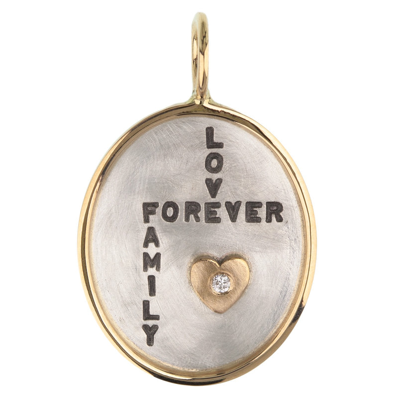 Love Forever Family Oval Charm