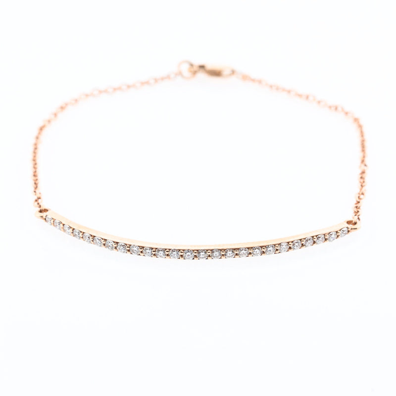 Rose Gold Diamond Bar Bracelet