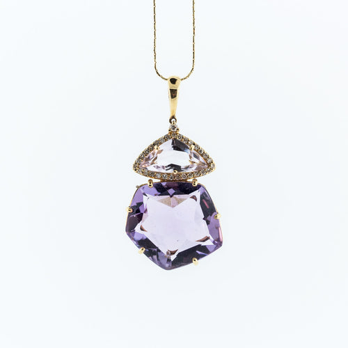 Purple Amethyst Pendant Necklace