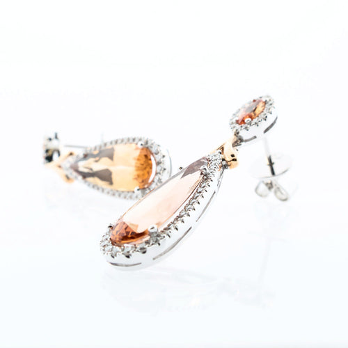 Pear Imperial Topaz Drop Earrings