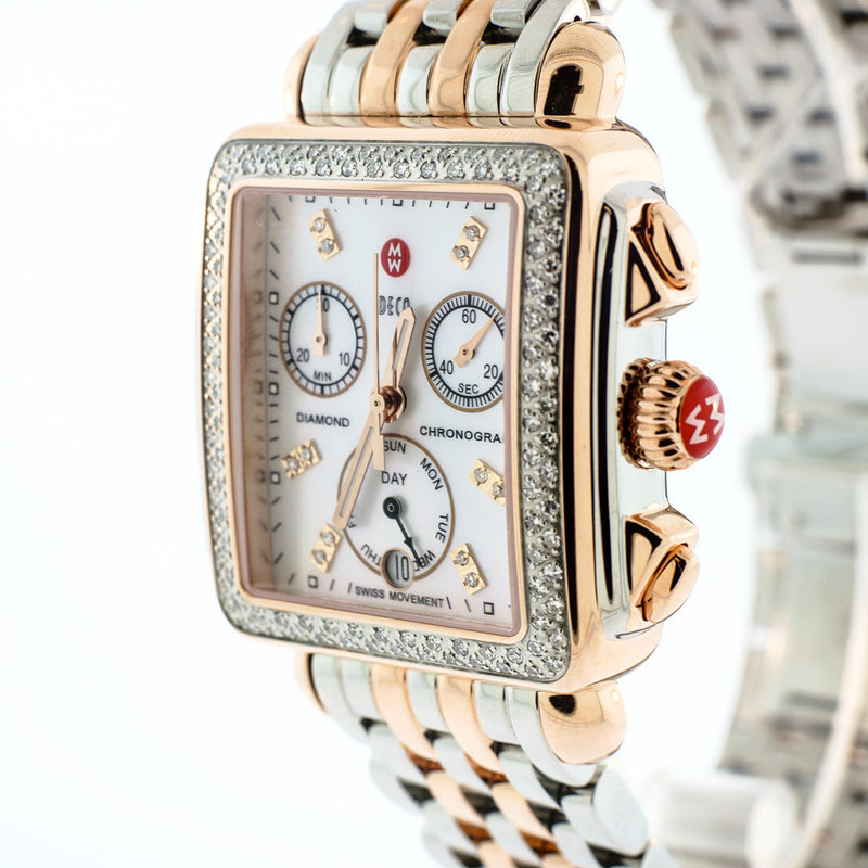 Signature Deco Diamond Two-Tone Rose Gold, Diamond Dial Watch