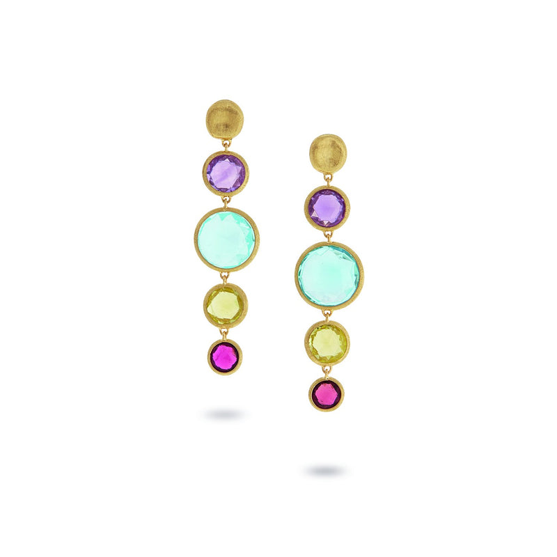 Marco Bicego Jaipur Mixed Stone Drop Earrings