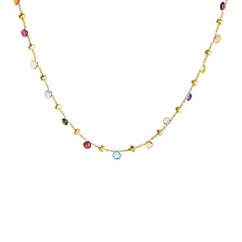 18K Yellow Gold & Mixed Large Stone Collar Necklace