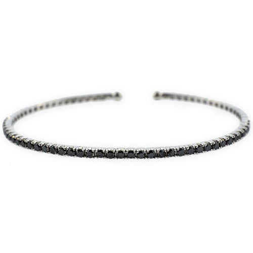 Black Diamond Cuff Bangle