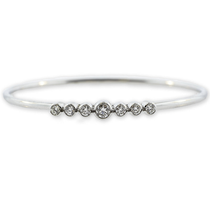 Round Diamond Bangle