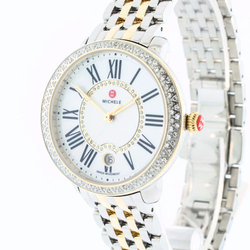 Serein Diamond Two Tone Gold, Two Tone Bracelet Michele Watch