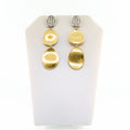 Marco Bicego Lunaria 18K Yellow Gold & Diamond Pave Small Triple Drop Earrings