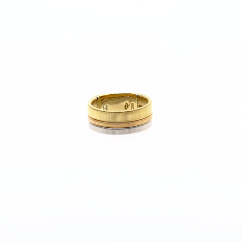 Marco Bicego Masai 18K Yellow, White, & Rose Gold Three Row Ring