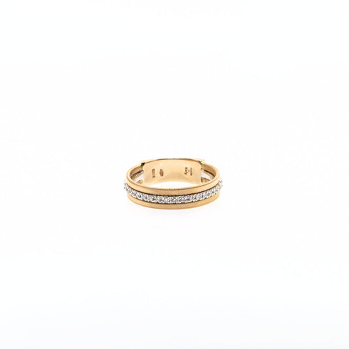 Marco Bicego Goa 18K Rose Gold Three Row Single Pave Diamond Ring