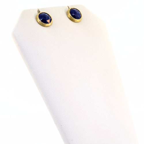 18K Yellow Gold & Lapis Petite Stud Earrings