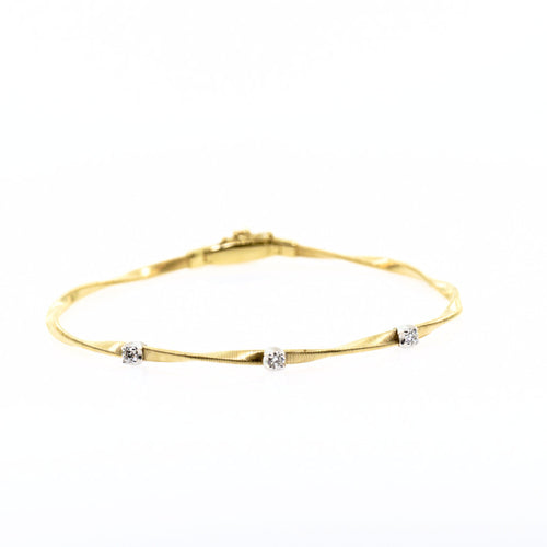 Marco Bicego Marrakech 18K Yellow Gold & Diamond Stackable Bangle