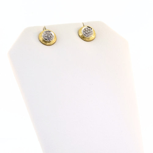 Marco Bicego Delicati 18K Yellow Gold & Diamond Pave Small Stud Earrings