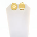 18K Yellow Flat Gold Medium Stud Earrings