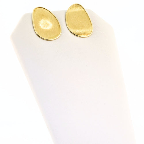 Marco Bicego Lunaria 18K Yellow Flat Gold Medium Stud Earrings