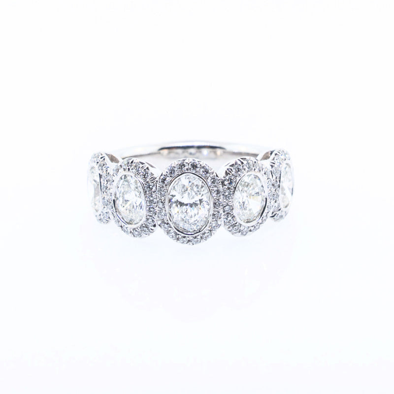 JB Star Oval Diamond Wedding Band
