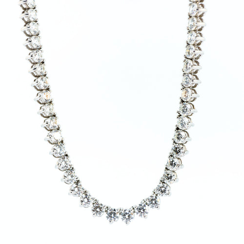 Yard of Diamonds Necklace