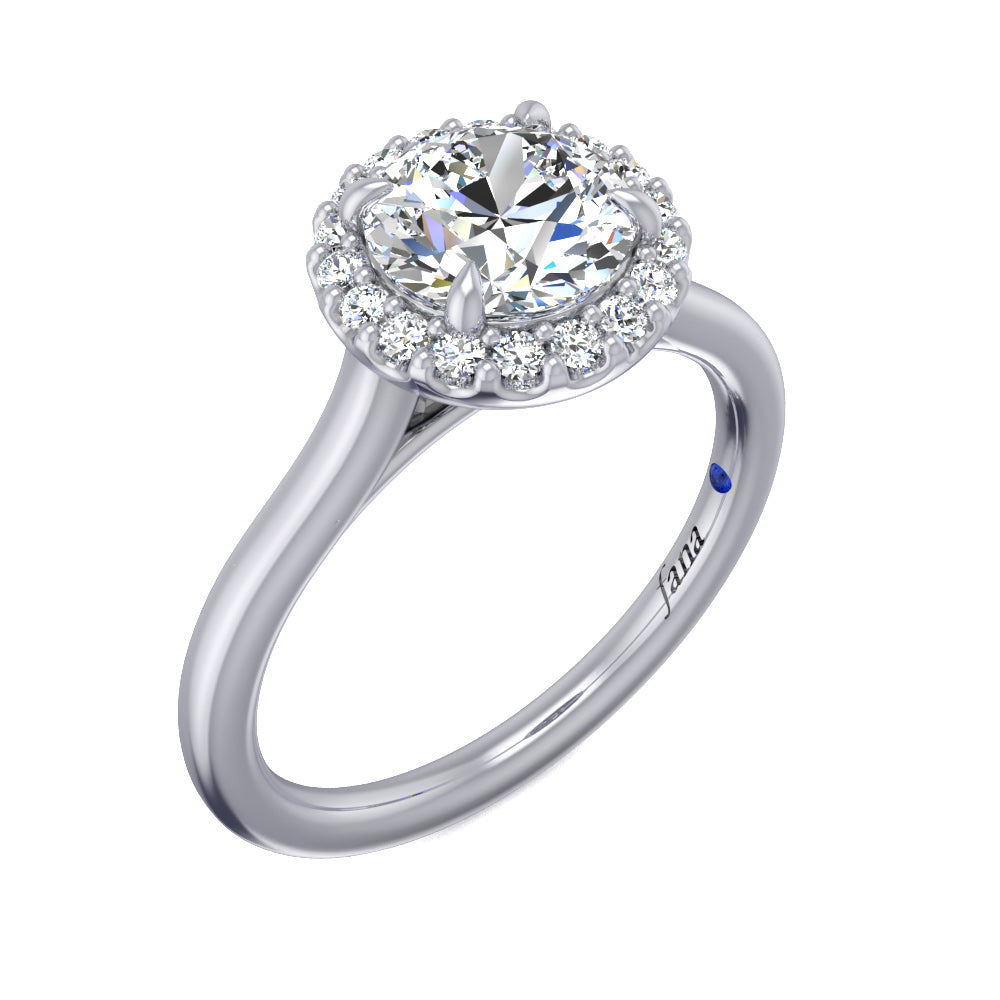 Fana Classic Halo Only Engagement Ring