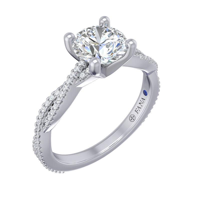 Fana Petite Diamond Twist Engagement Ring
