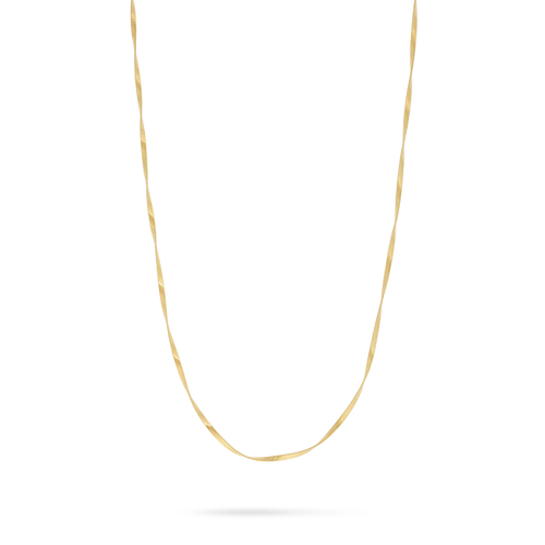 "Marrakech Supreme 36"" White Gold Necklace"
