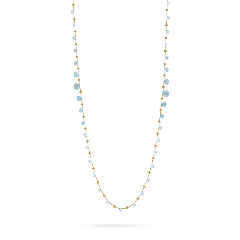 Marco Bicego Paradise Necklace with Aquamarine