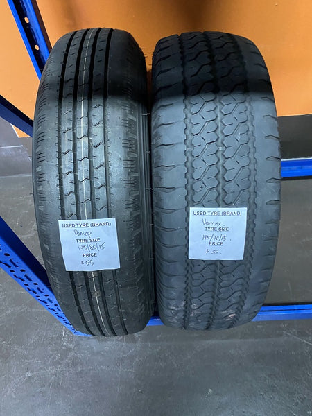 Used Tyre 175/80/15 Dunlop spare tyre