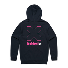 Load image into Gallery viewer, Hoodie - Navy / Pink
