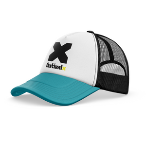 Trucker Cap - Black/White/Teal
