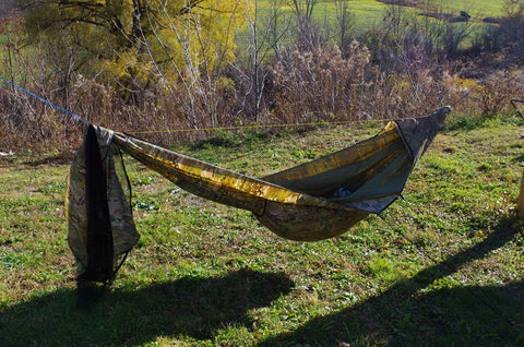 Hammock with removable net and overcover