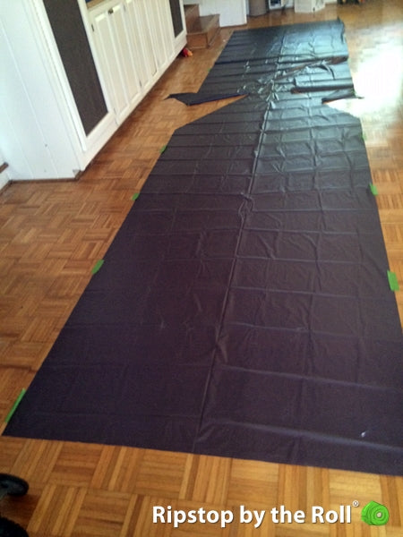 DIY tent - floor and back wall