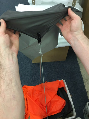 Ultralight tarp tie-out strength testing