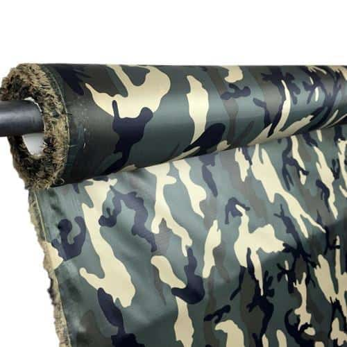 1.1 oz calendered poly ripstop - Woodland Camo