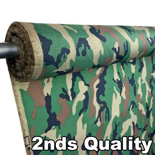2nds Quality - 1.1 poly ripstop - Military Woodland Camo
