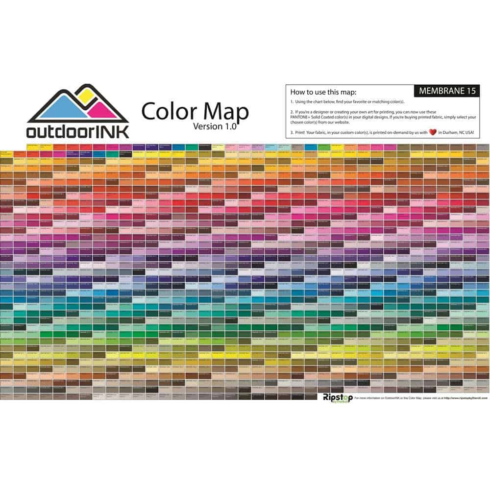 OutdoorINK Color Map - Ripstop by the Roll
