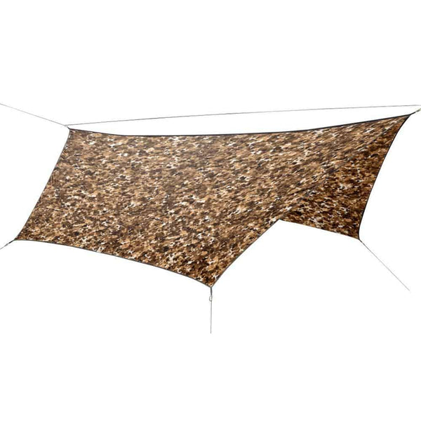 OutdoorINK HEX12 Tarp Kit, Fallen Leaves Snowy Dark