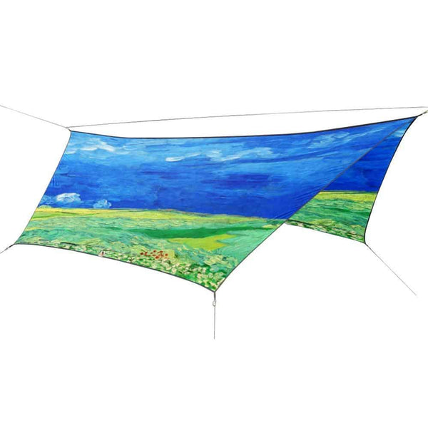 OutdoorINK HEX12 Tarp Kit, Wheatfield Under Thunder Clouds