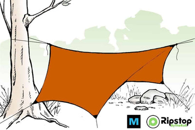 Pre-Cut HEX12 Ultralight Tarp Kit, Burnt Orange