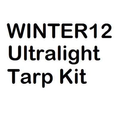 Winter12 Ultralight Tarp Kit