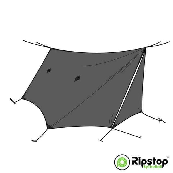 Pre-Cut WINTER12 Tarp Kit, Charcoal Gray