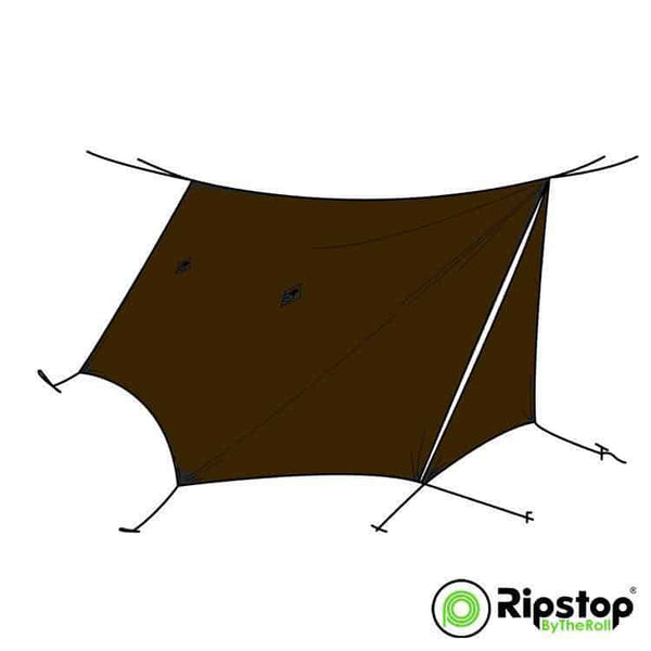 Pre-Cut WINTER12 Tarp Kit, Dark Brown