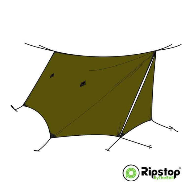Pre-Cut WINTER12 Tarp Kit, Olive Drab