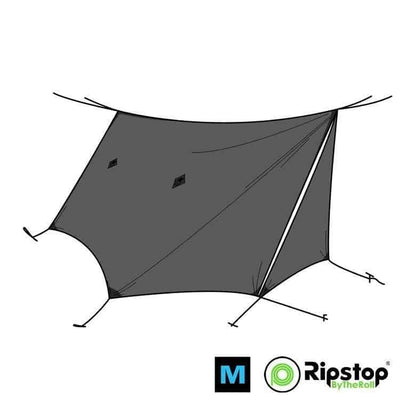 Pre-Cut WINTER12 Ultralight Tarp Kit, Charcoal Gray