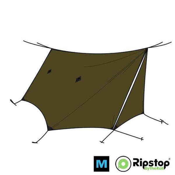 Pre-Cut WINTER12 Ultralight Tarp Kit, Dark Olive