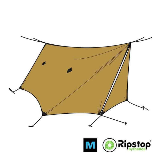 Pre-Cut WINTER12 Ultralight Tarp Kit, Khaki