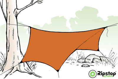 Pre-Cut HEX12 Tarp Kit, Burnt Orange