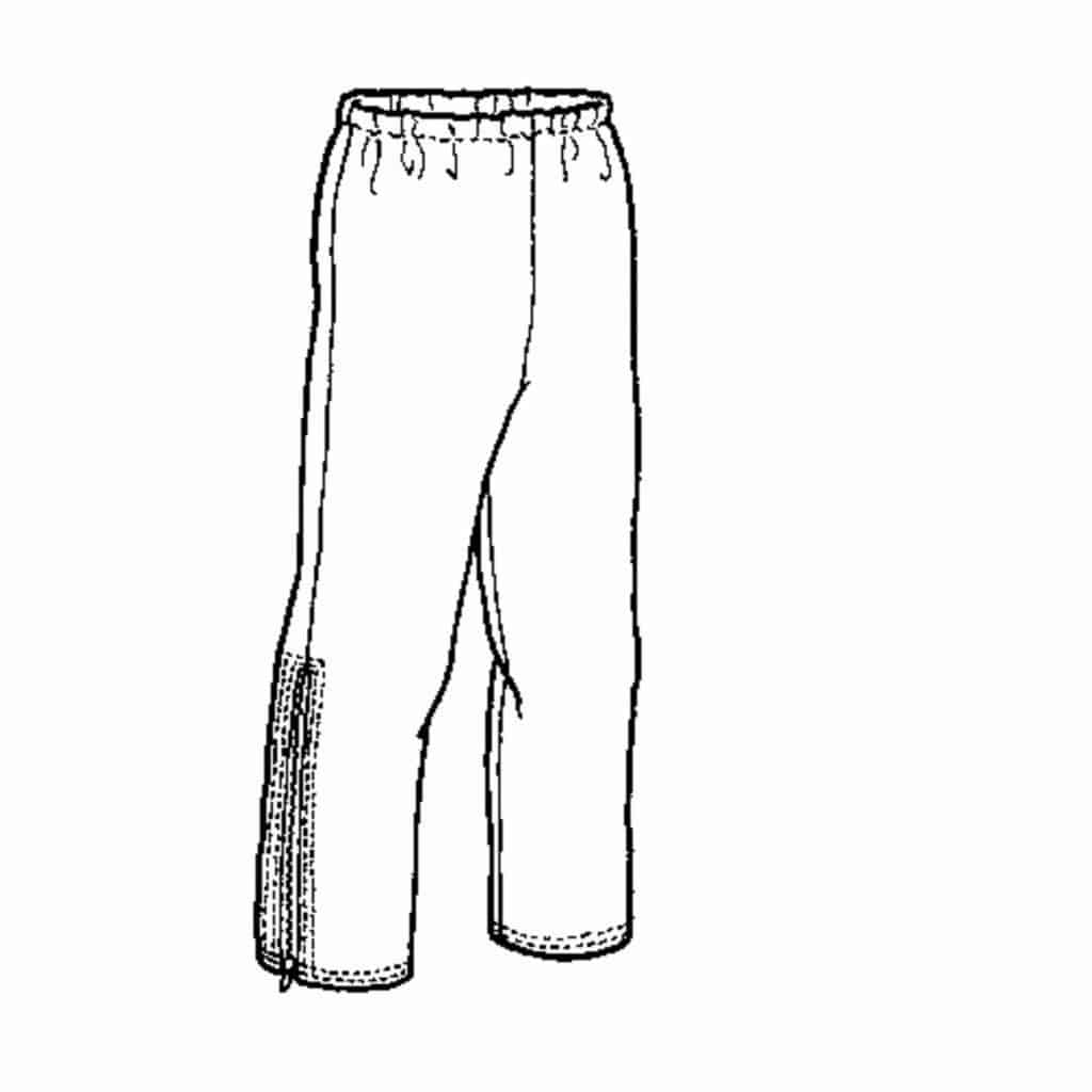 Men's Wind and Rain Pants Pattern